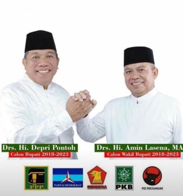 Pleno KPU Bolmut, Pasangan Depri Pontoh -Amin Lasena